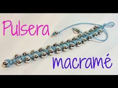 sandylandya@outlook.es ▶ Tutorial: Pulsera con técnica de macramé. Bracelet macrame. - YouTube