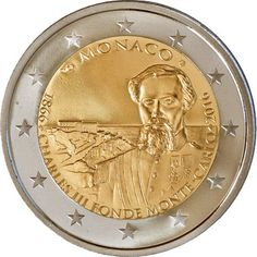 2 euros conmemorativa Mónaco 2016