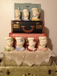 Glamour Girl Headvases.  I have two of these and didn't realize how many colors they came in.