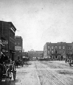 1875 view of Peachtree Street in Atlanta, GA.