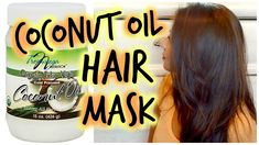Coconut Oil Repairing + Conditioning Hair Mask #hair_mask