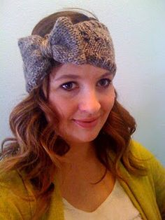 giant bow headband #knitting #pattern