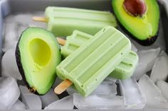 Delicious and healthy avocado popsicles