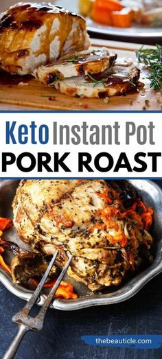This Instant Pot Pork Roast is amazing! It's a Keto Pork Roast with a cocoa spice that's exotic enough for keto holiday recipes but also quick and easy enough for a keto weeknight dinner. Try this Instant Pot Recipe and tell me if you like this keto pork recipe with cocoa rub! #keto #ketodinner #ketoinstantpot #instantpot #ketorecipe Low Carb Dinner Recipes, Healthy Eating Recipes, Lunch Recipes, Keto Recipes, Easy Recipes, Keto Holiday, Holiday Recipes, Pork Shoulder Roast, Pot Recipe