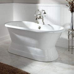 "60"" Henley Cast Iron Dual Tub on Plinth 