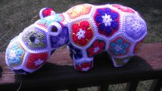 CUSTOM ORDER -- Flower the HappyPotamus
