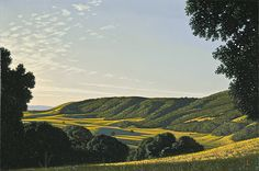 David Ligare: It's morning and the whole day lies ahead of us. We step into this painting and wander off through that valley. Maybe have lunch at an inn. The world is not crowded like today, but open and wonderful. Note by Roger Carrier