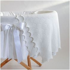 Looking for the perfect new baby or christening gift? Our elegant baby shawl is knitted from soft wool and hand finished with lace scalloped edges. Small Crib, Baby Shawl, New Baby Products, Pure Products, Newborn Baby Gifts, Christening Gifts, Baby Kids, Delicate, Blanket