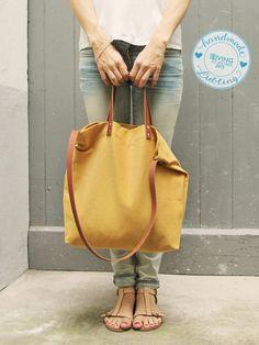 Tasche ELIN in senf // Bag in mustard by MINUK via DaWanda.com