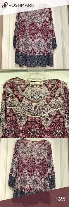 Style & Co. blouse Very pretty 🌸excellent condition 🌸worn once Style & Co Tops Blouses