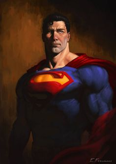 """The man of steel by Enzo Fernandez via superman "" Dc Comics Superheroes, Arte Dc Comics, Marvel Comics, Marvel Dc, Comic Book Characters, Comic Books Art, Book Art, Mundo Superman, Superman Facts"