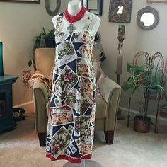 NANETTE LEPORE 2 WAY DRESS Great shape, smoke free home me.  Fully lined, I think can be worn inside out also.  Side buttons Nanette Lepore Dresses Maxi