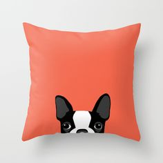 Boston+Terrier+Throw+Pillow+by+Anne+Was+Here+-+$20.00