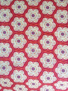 Designer Fabric - Anna Maria Horner Little Folks Collection, Voile, Little Honey in Berry - 1 yard