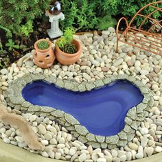 Miniature Fairy Garden Pond