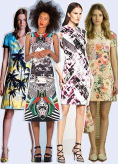 fashion, fashion prints, dress,   Pre Spring Summer 2014  http://www.digitalfabrics.com.au/resources-for-designers/inspiration/