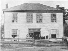 Former Montgomery County Courthouse (1837) Montgomery, Texas - photo from c.1885