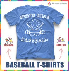 Create and design your custom baseball t-shirts for 8a9d70060bba