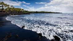 Take a stroll along one of Hawaii�s most famous black-sand beaches. Located south of Hawaii Volcanoes National Park, Punaluu Black Sand Beach is home to large <i>honu</i>, or green sea turtles. Don�t get too close: Beachgoers are forbidden to touch these protected turtles or leave the beach with black sand as a souvenir.