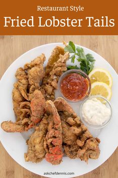 How to Make Restaurant-Style Fried Lobster Tails - Chef Dennis Appetizers For A Crowd, Seafood Appetizers, Seafood Dishes, Appetizer Recipes, Kitchen Recipes, Gourmet Recipes, New Recipes, Easy Recipes, Recipies