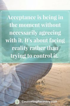 How to practice acceptance | codependency recovery | boundaries in relationships | Click to read more! #acceptance #lettinggo #relationship