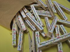 Promo items to give away at craft shows. Genius! I would keep one of these much longer than a business card!