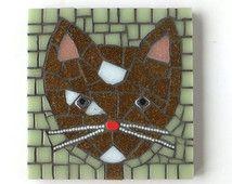 Cat Mosaic, mosaic wall art, cat art