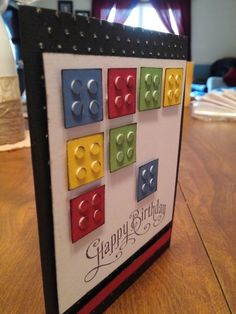 Sheryl's Crafting Corner: Lego birthday card