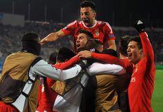 Benfica's Zenit late show wins quarter-final spot.: Benfica's Zenit late show wins quarter-final spot… Hulk, Goncalves, Cadiz, Uefa Champions League, Everton, Real Madrid, Captain America, Believe, 1