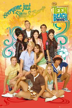 Teen Beach Movie from Disney Channel. I was surprised at how much I enjoyed this movie! It was so cute.