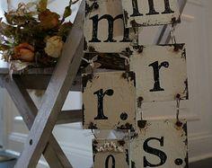 CUSTOM MR and MRS Chair Hangers, Vintage Wedding Decor, Romantic Wedding Decor, Hand Painted Wedding Signs