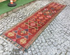 Rugs Vintage-hand made hemp-Turkish kilim from by EclecticRug