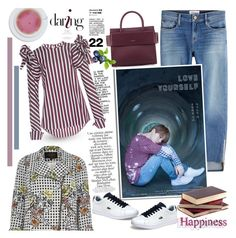 """""""Love yourself- Cold guy...but my angel...."""" by purplecherryblossom ❤ liked on Polyvore featuring Givenchy, River Island, Zimmermann, Frame, Johanna Ortiz and Lacoste"""
