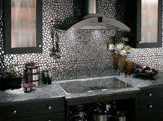 Coole Und Kreative Küchenspiegel Ideen Für Jede Küche   Attraktives  Interieur