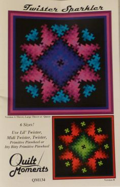 Pattern  Twister Sparkler  6 Sizes  Uses by SuesFabricNSupplies, $8.50
