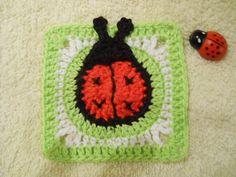 crochet ladybug square pattern