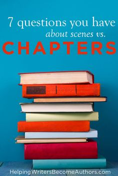 What's the difference between a scene and a chapter? Check out this helpful article to know the difference.