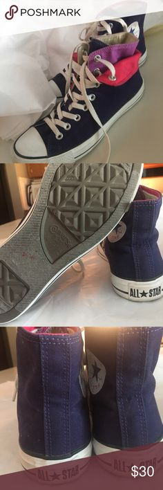 CONVERSE ALL STAR DOUBLE LAYER HIGH TOPS SNEAKERS CONVERSE ALL STAR DOUBLE LAYER HIGH TOPS SNEAKERS MEN'S 7, WOMEN'S 9 - THEY ARE IN AMAZING SHAPE Converse Shoes Athletic Shoes