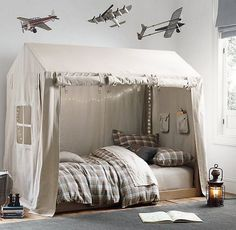 Baby Bedroom, Bedroom Decor, Tent Bedroom, Camping Bedroom, Girl Bedrooms, White Bedroom, Kid Beds, Toddler Beds For Boys, Toddler Cabin Bed