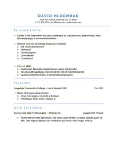 space it out - A Professional Resume Format