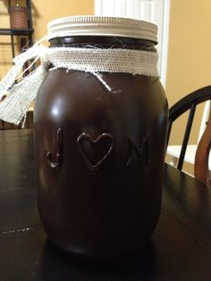 Large brown jar