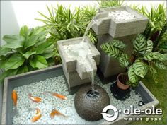 Water Feature ★ Ponds Size X Johor Bahru (JB) Supplier, Supply, Install ★ Ole Ole Water Pond & Deco Indoor Pond, Indoor Water Fountains, Indoor Garden, Pond Design, Small Garden Design, Patio Design, Fountain Design, Japanese Garden Design, Ponds Backyard