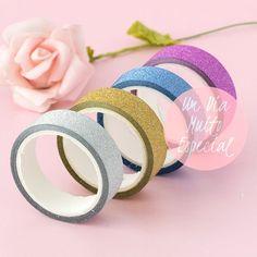 fitas adesivas coloridas glitter lembrancinhas casamento festa - Lembrancinhas e Decoração Romântica para Festas   Um Dia Muito Especial
