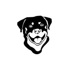 Smiling Rottweiler Sticker Vinyl Wall Art