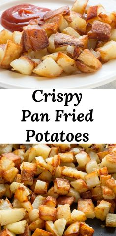Fried potatoes, AKA home fries, are classic southern comfort food and can be ser. - Fried potatoes, AKA home fries, are classic southern comfort food and can be served at any meal. Home Fried Potatoes, Fried Potatoes Recipe, Recipe With Canned Potatoes, How To Fry Potatoes, Skillet Fried Potatoes, Fried Breakfast Potatoes, Potato Recipes, Beef Recipes, Cooking Recipes