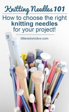 Needles 101 : Learn how to choose which knitting needles to use for your next knitting project! Knitting Needles 101 : Learn how to choose which knitting needles to use for your next knitting project! Knitting Patterns Free, Free Knitting, Baby Knitting, Free Pattern, Crochet Patterns, Sweater Patterns, Stitch Patterns, Beginner Knitting Projects, Knitting For Beginners