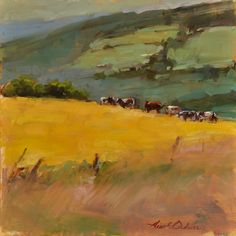 """This by fellow New England artist Aline Ordman...""""Overlook"""" 9x12 oil on board"""