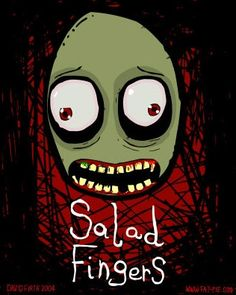 """Salad Fingers - 2004 - D. Firth [From """"Virtue of necessity: a selection of animated web series"""" More here: http://turningmillifwindbestill.wordpress.com/2012/07/10/animated-web-series]"""