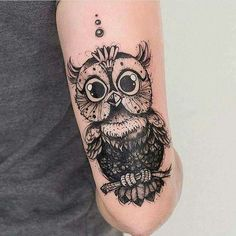 Cutest owl ever tattoo