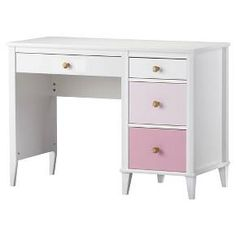 Graduated ombre-styled drawer fronts give this classically-styled desk an updated look. Different sized drawers hold everything from pencils to craft supplies and fitted with metal slides and built-in stops designed for trouble-free use. We include two sets of drawer knobs so that you can customize the look of your dresser. Like all Little Seeds products, this purchase helps support a major environmental initiative. Discover how this can help you and your child involve your community in…